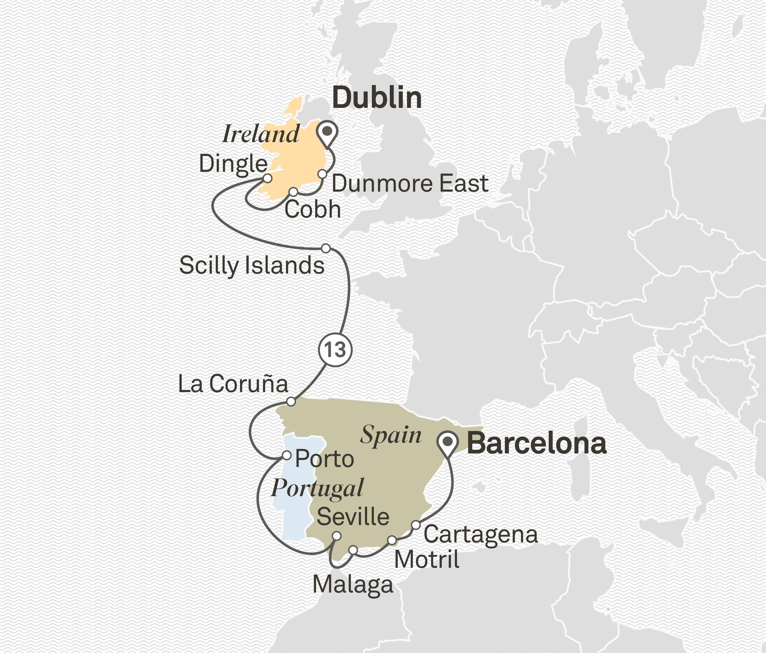 Jewels Of Iberia Ireland Ocean Cruise Europe The Mediterrannean