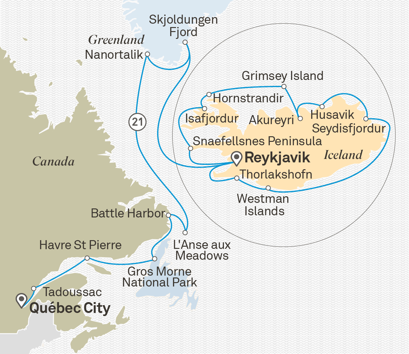 Map Of Canada Greenland And Iceland.Ultimate Iceland Atlantic Canada Ocean Cruise Europe The