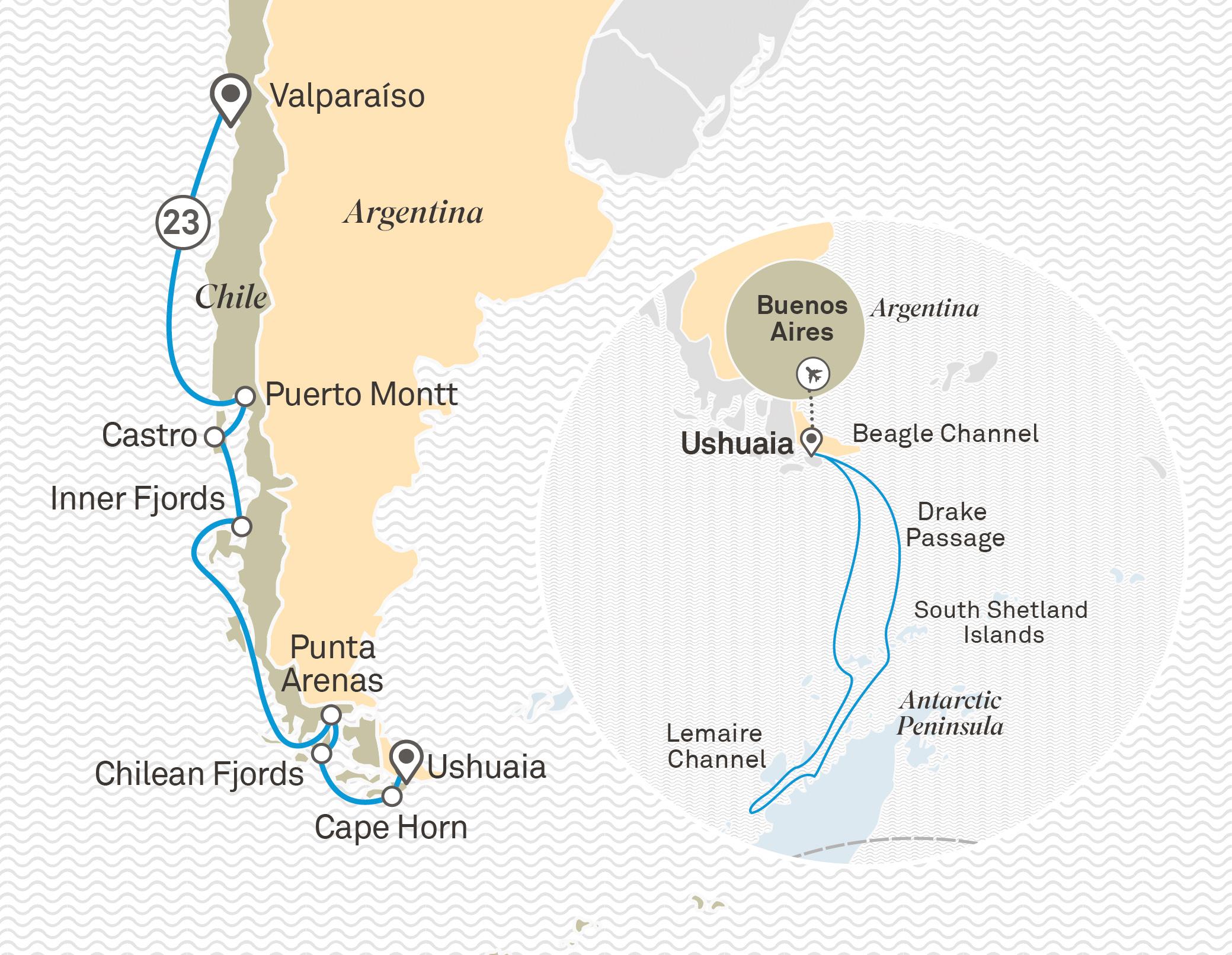Ultimate Chilean Fjords, Cape Horn & Antarctica in Depth