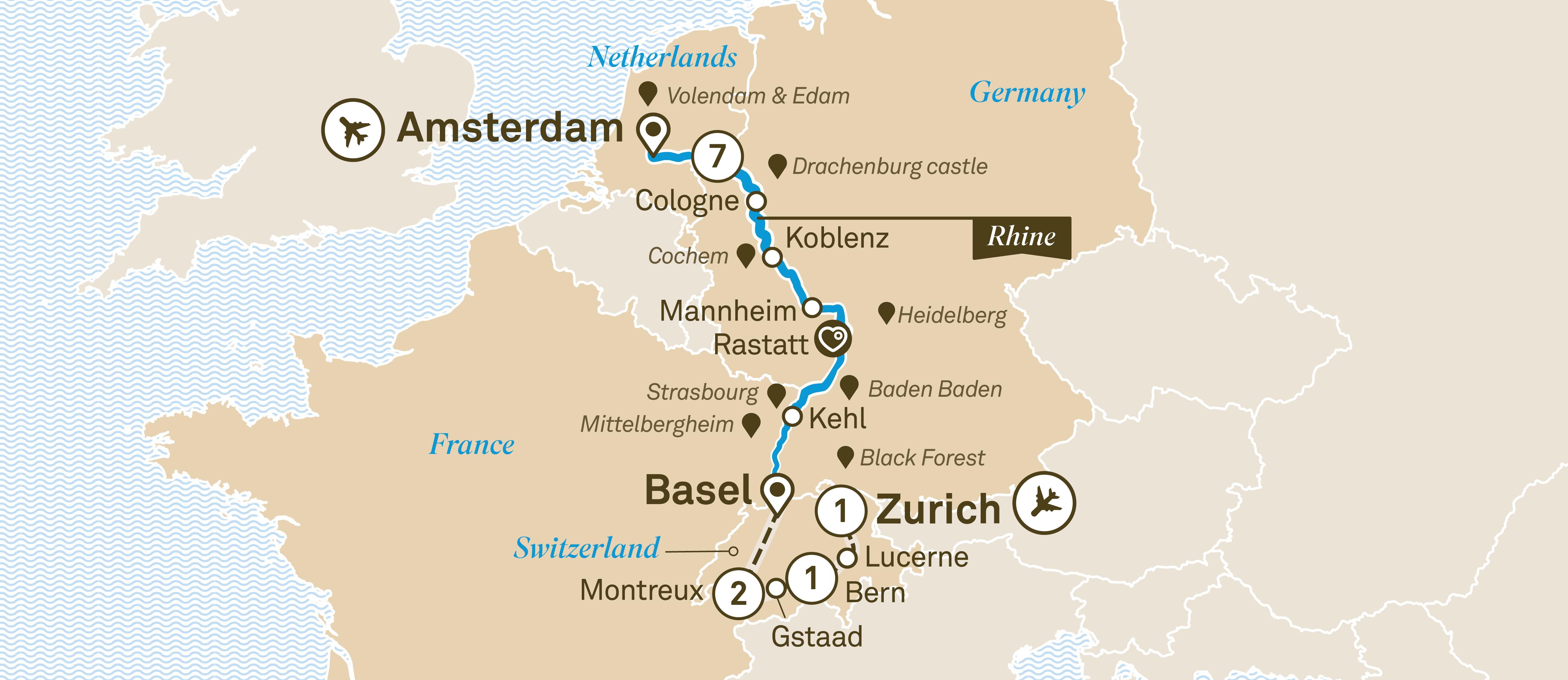 Rhine Highlights with Switzerland - Scenic Australia on