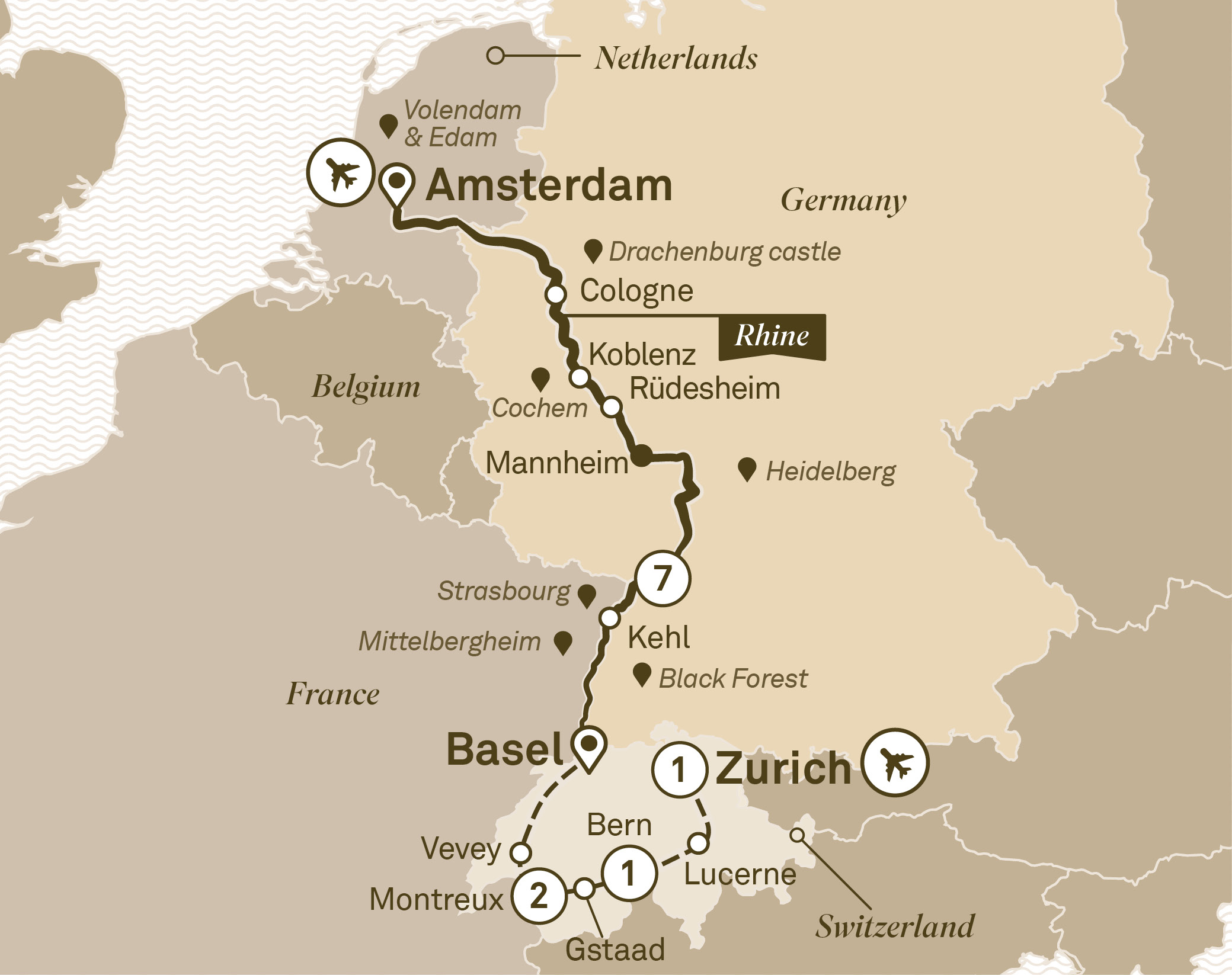 Discover europe on a luxurious all inclusive river cruise scenic view map gumiabroncs Images