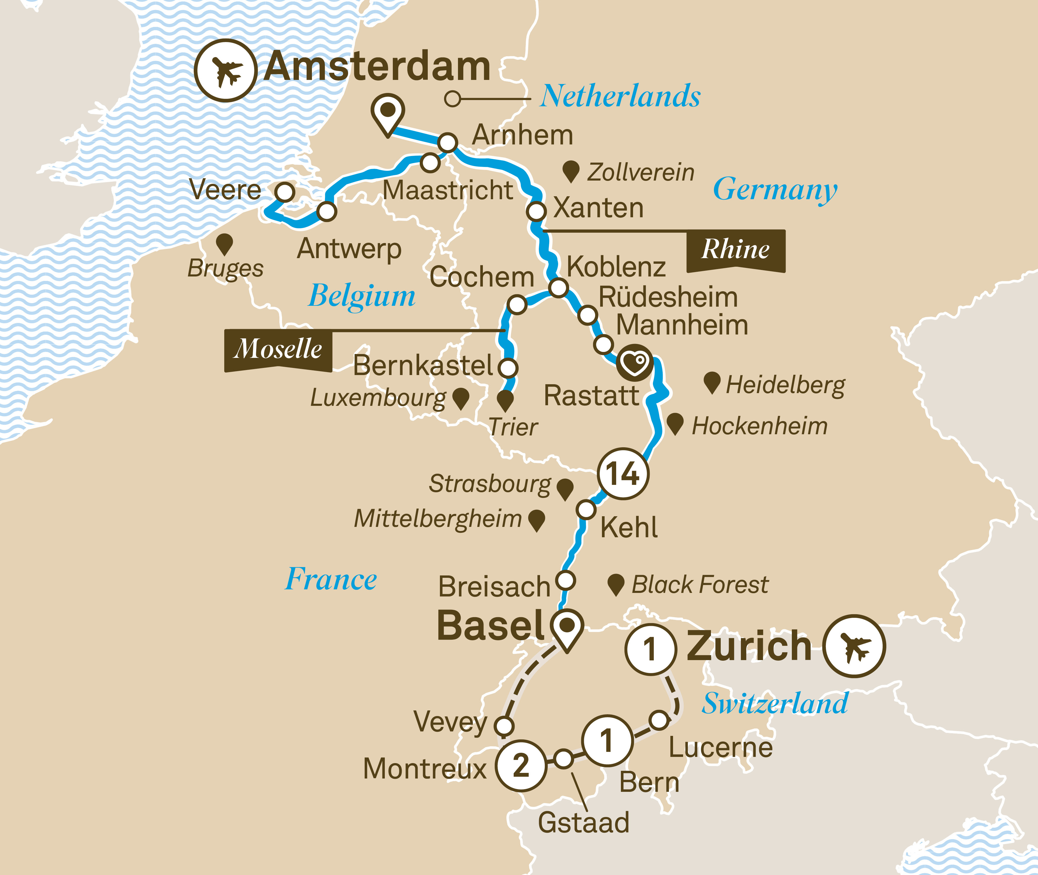 Map for route romantic-rhine-moselle-with-switzerland