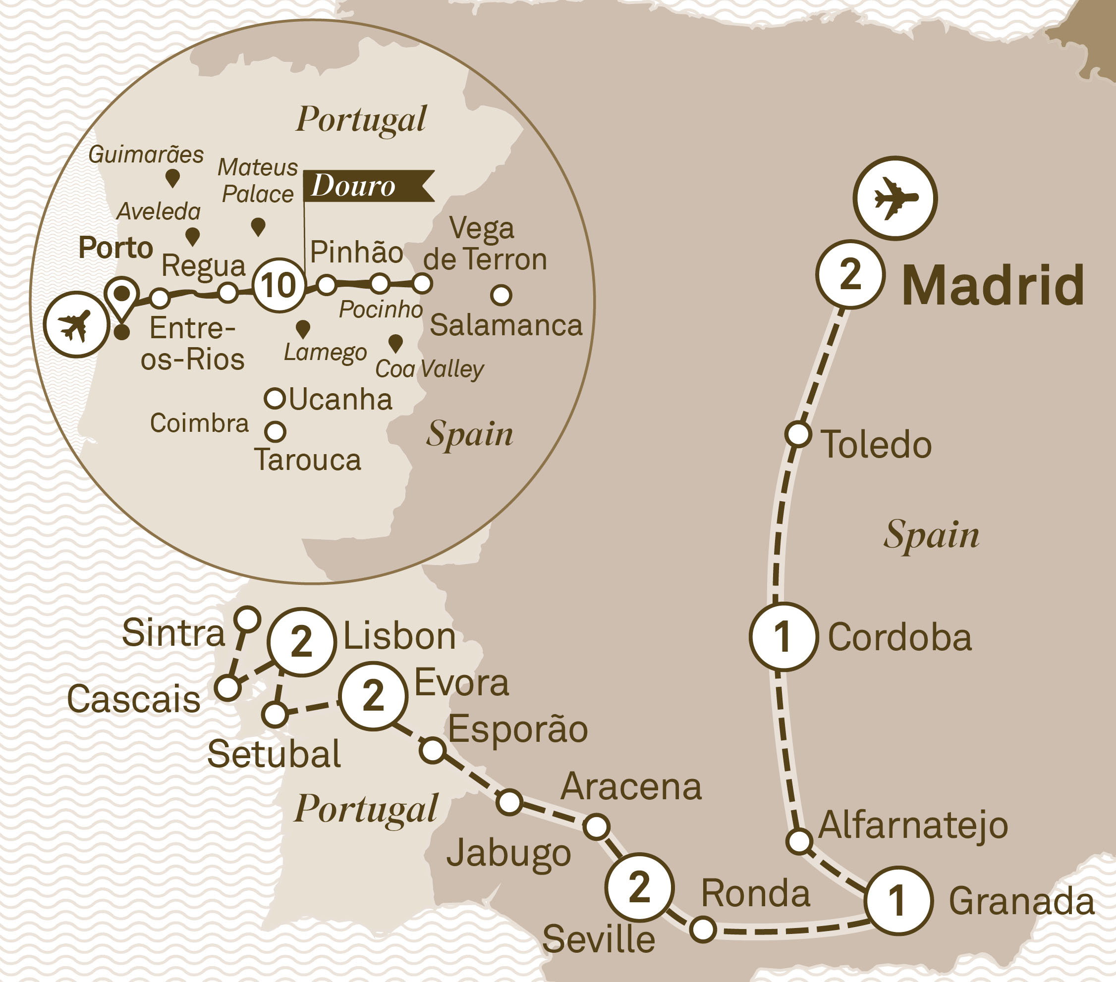 Map for route iberian-grandeur