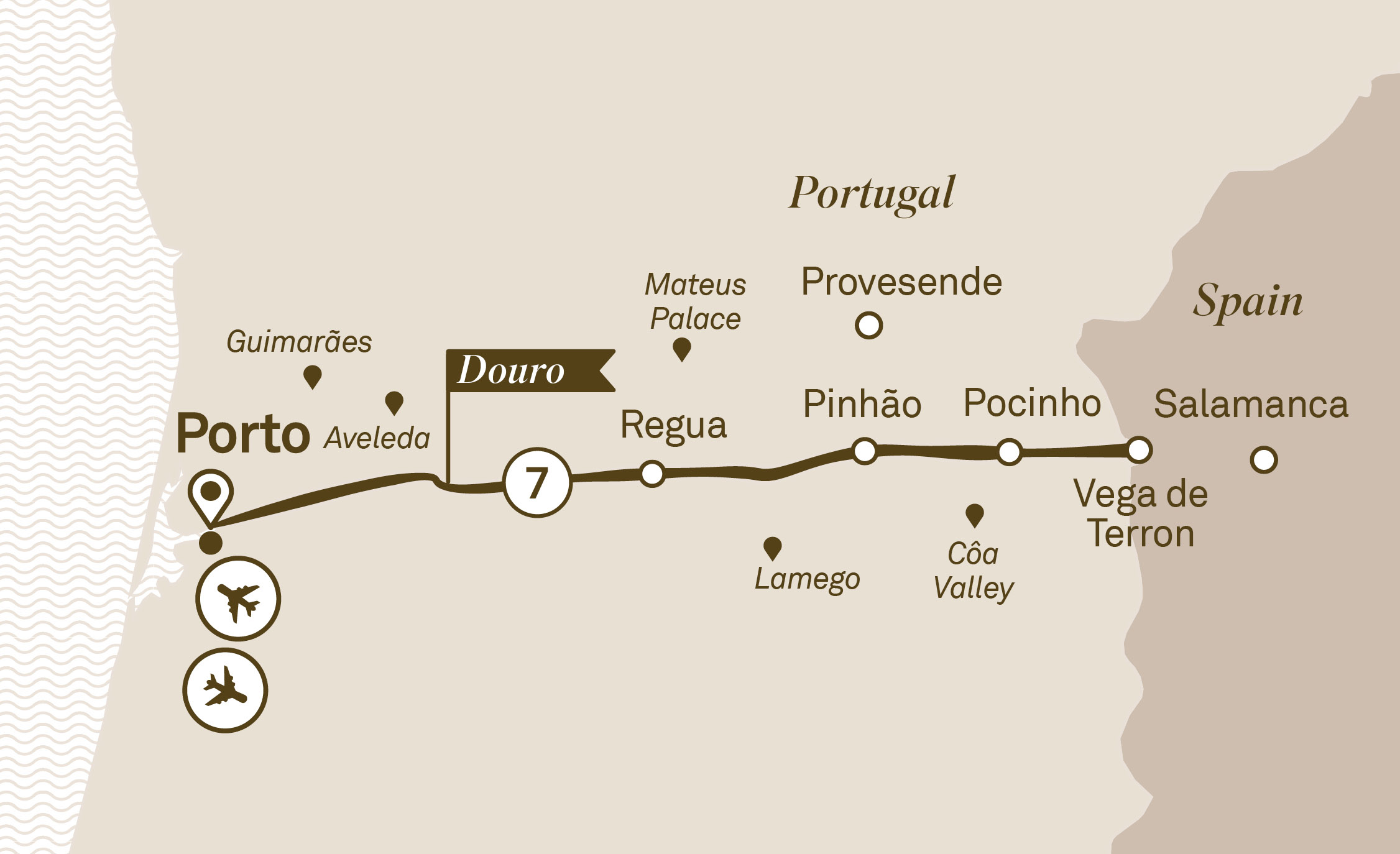 Map for route delightful-douro