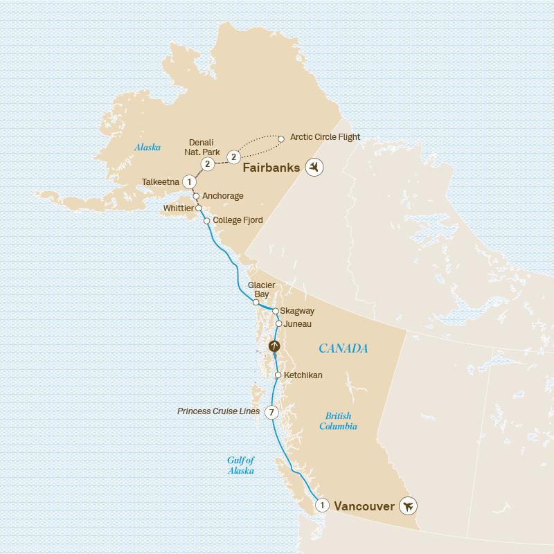 Alaska Including The Arctic Circle Scenic Uk