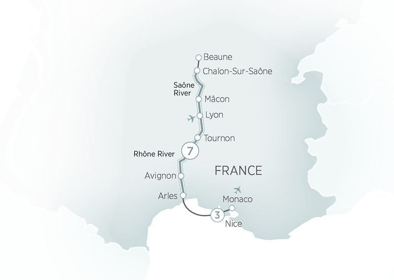Sensations of Southern France  Nice  River cruises Europe