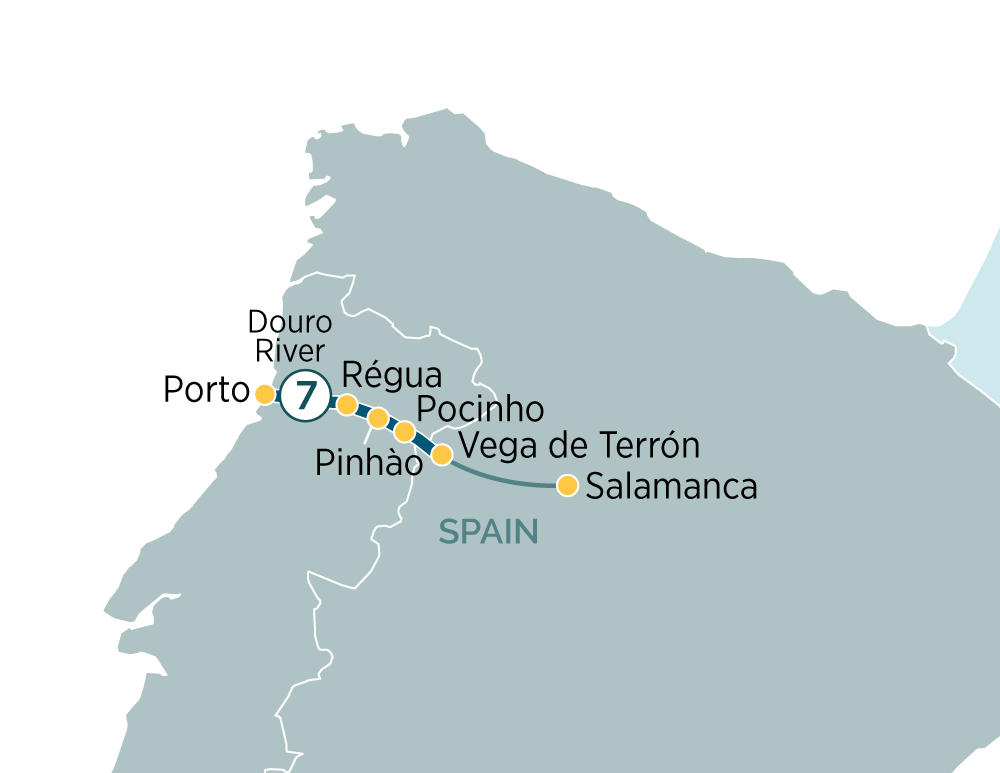 Itinerary map of Secrets of the Douro