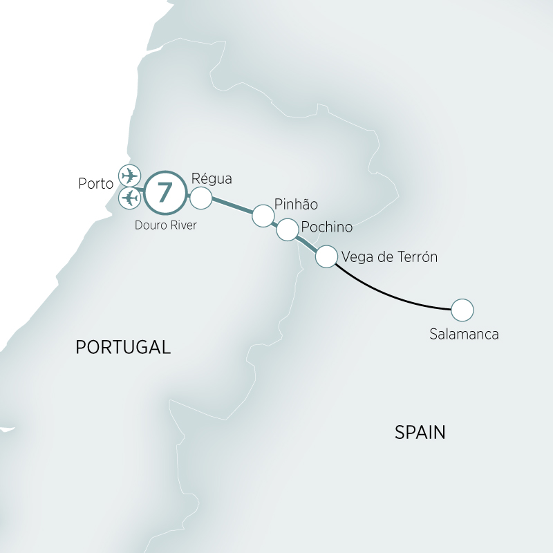 Itinerary map of Secrets of the Douro>