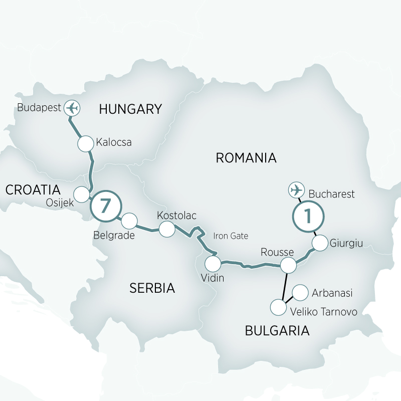 Itinerary map of Enchantment of Eastern Europe