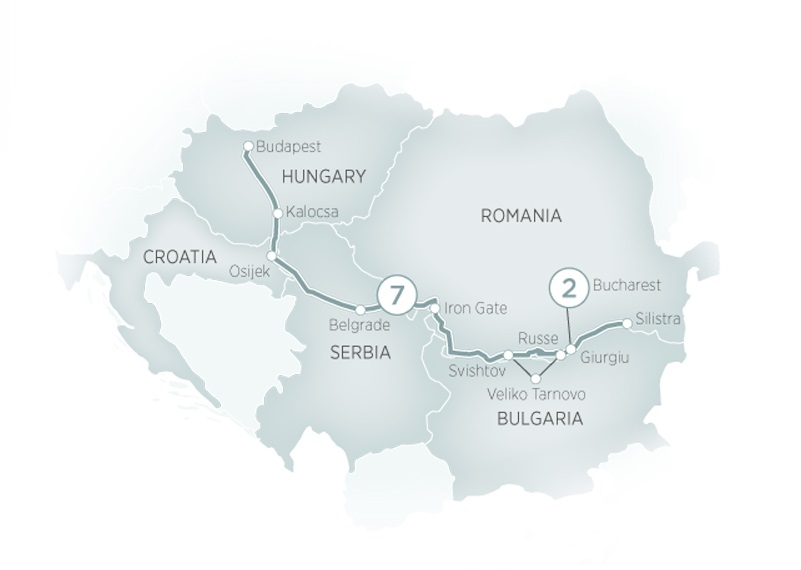 Itinerary map of Enchantment of Eastern Europe>