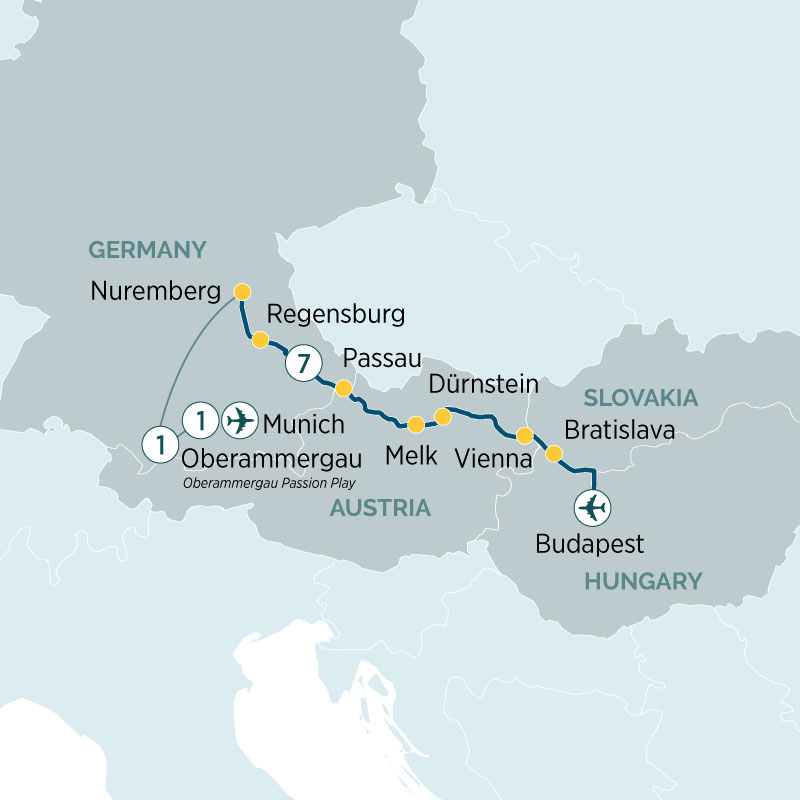 Oberammergau Germany Map.Oberammergau Passion Play Danube Delights Cruise Emerald