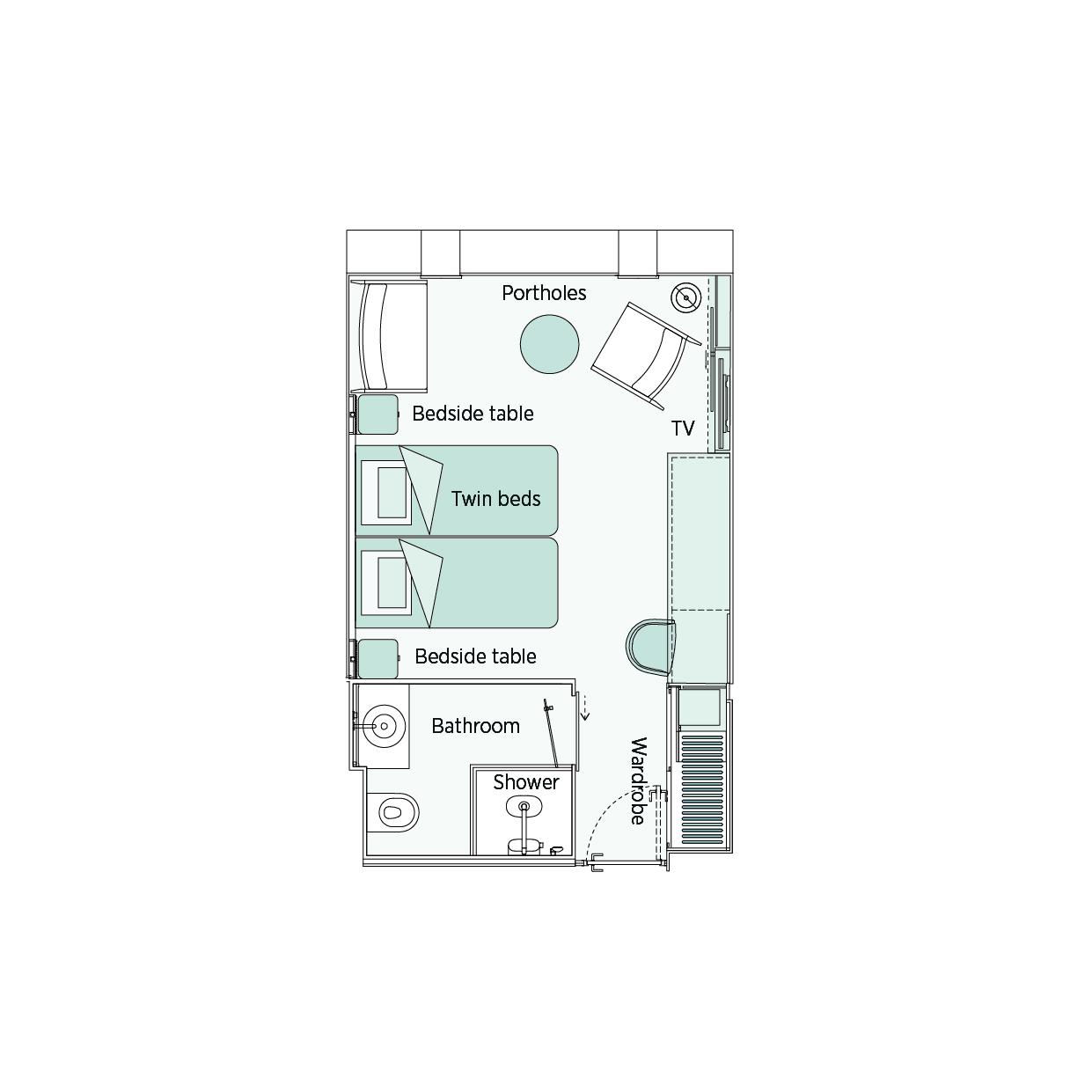 Emerald Stateroom - D