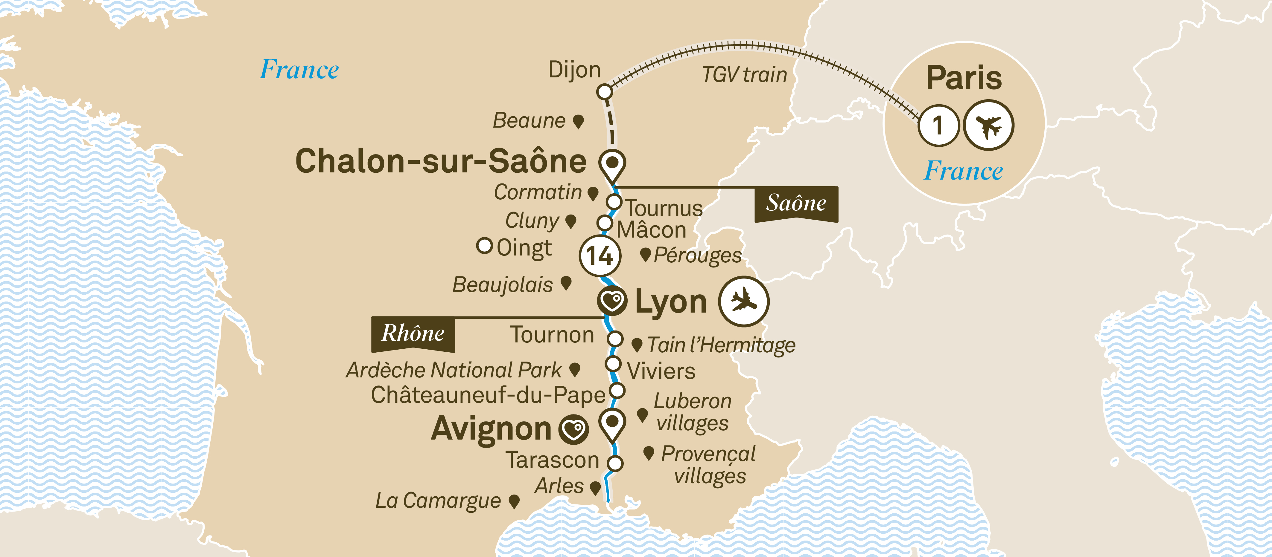 South Of France Cities Map.South Of France Indulgence