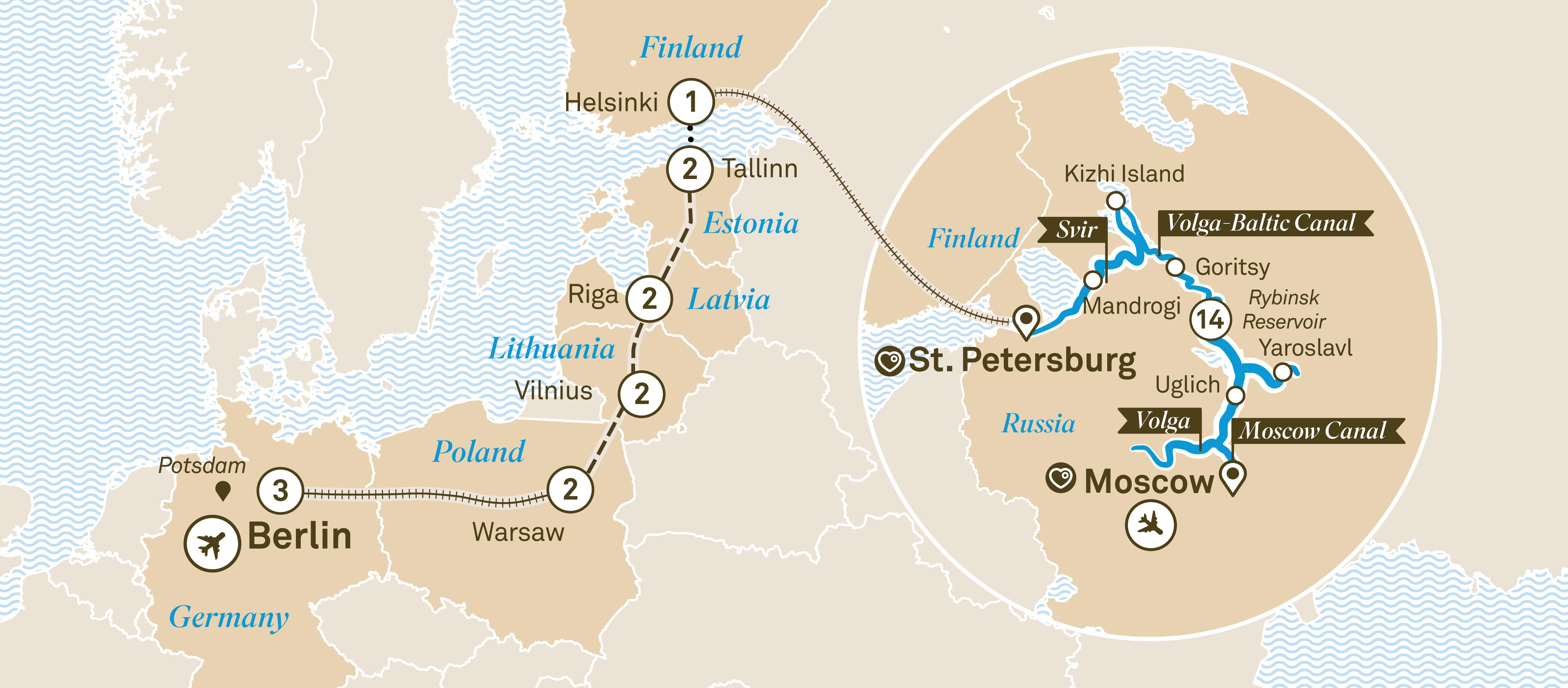 Mapa da excursão