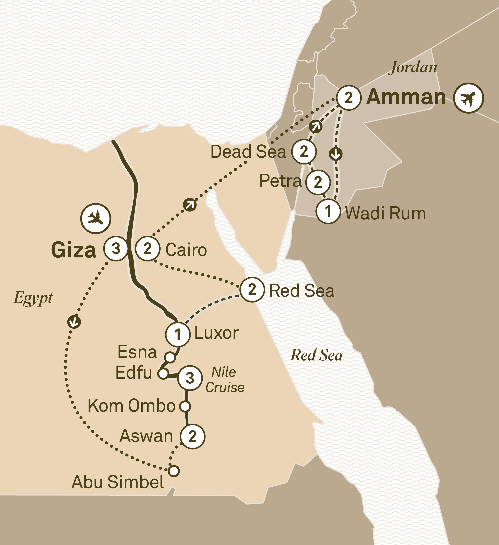 Jewels of Egypt & Jordan, Loyalty Departure