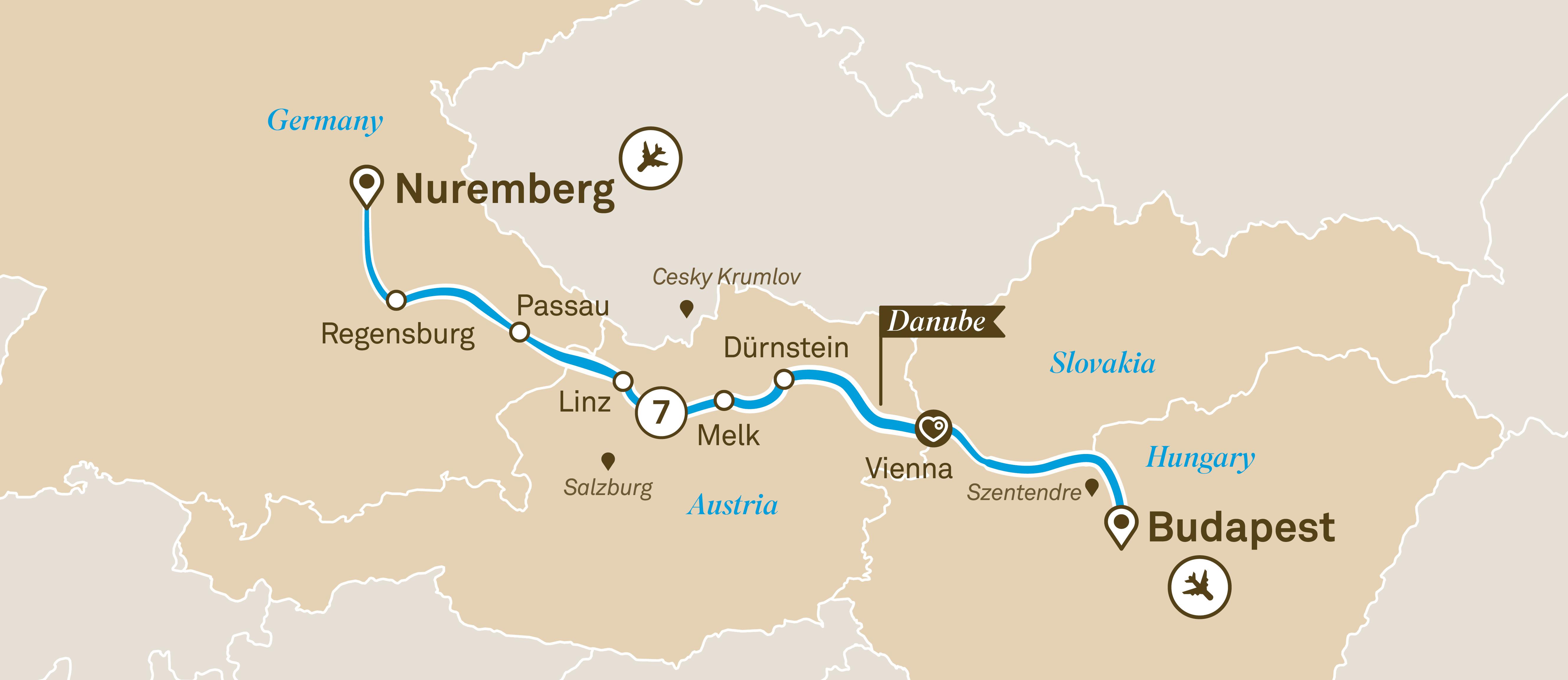 Salzburg Christmas Market Map.Danube Christmas Markets