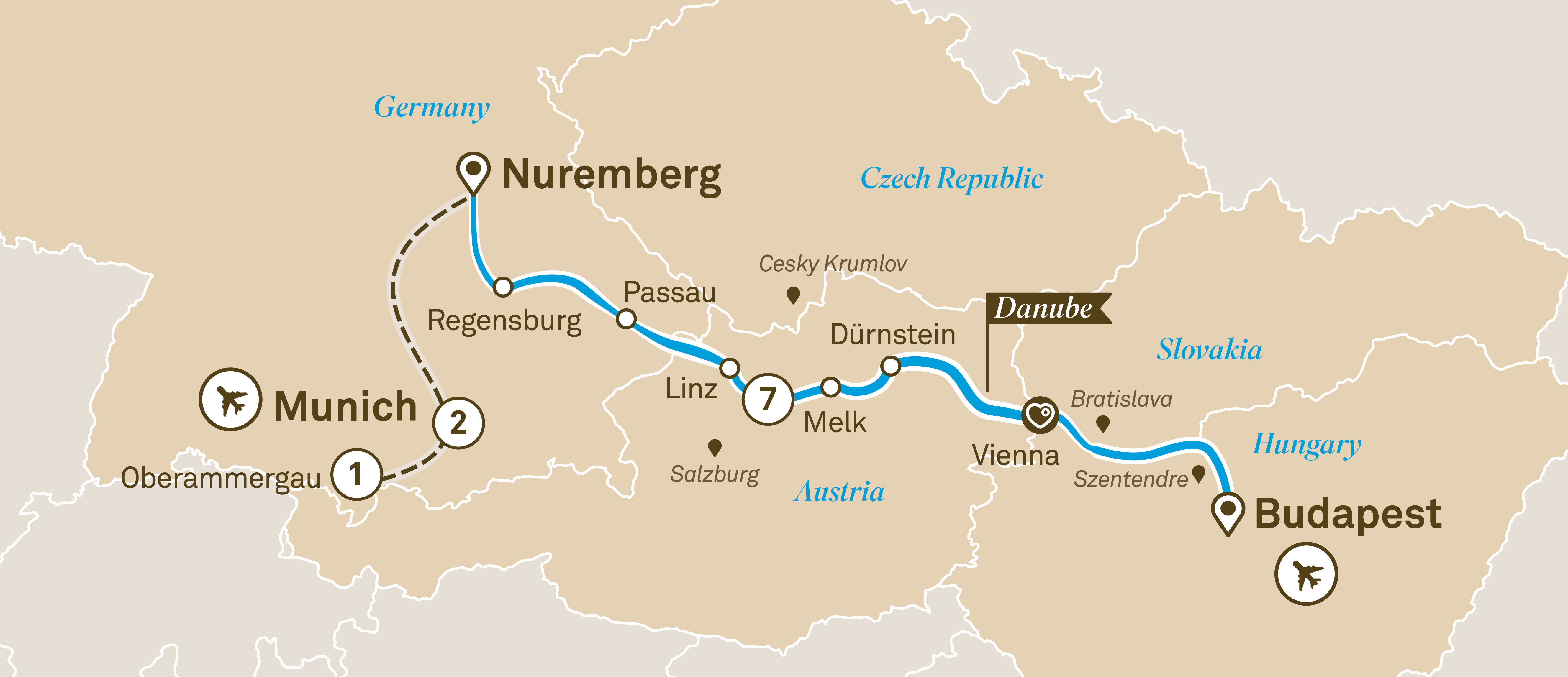 Oberammergau Germany Map.Gems Of The Danube With Bavaria Oberammergau River Cruises Germany