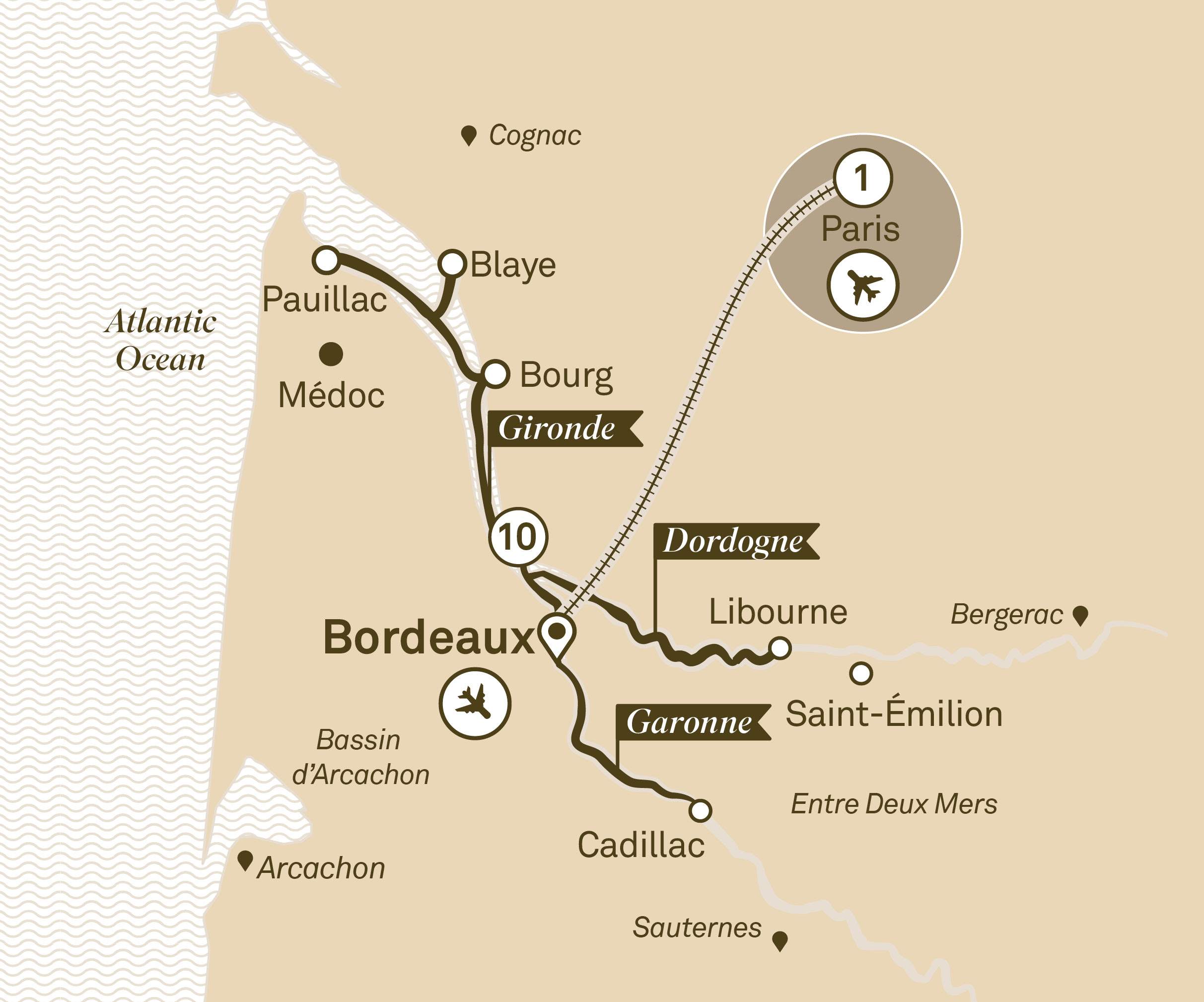 Itinerary map of Breathtaking Bordeaux
