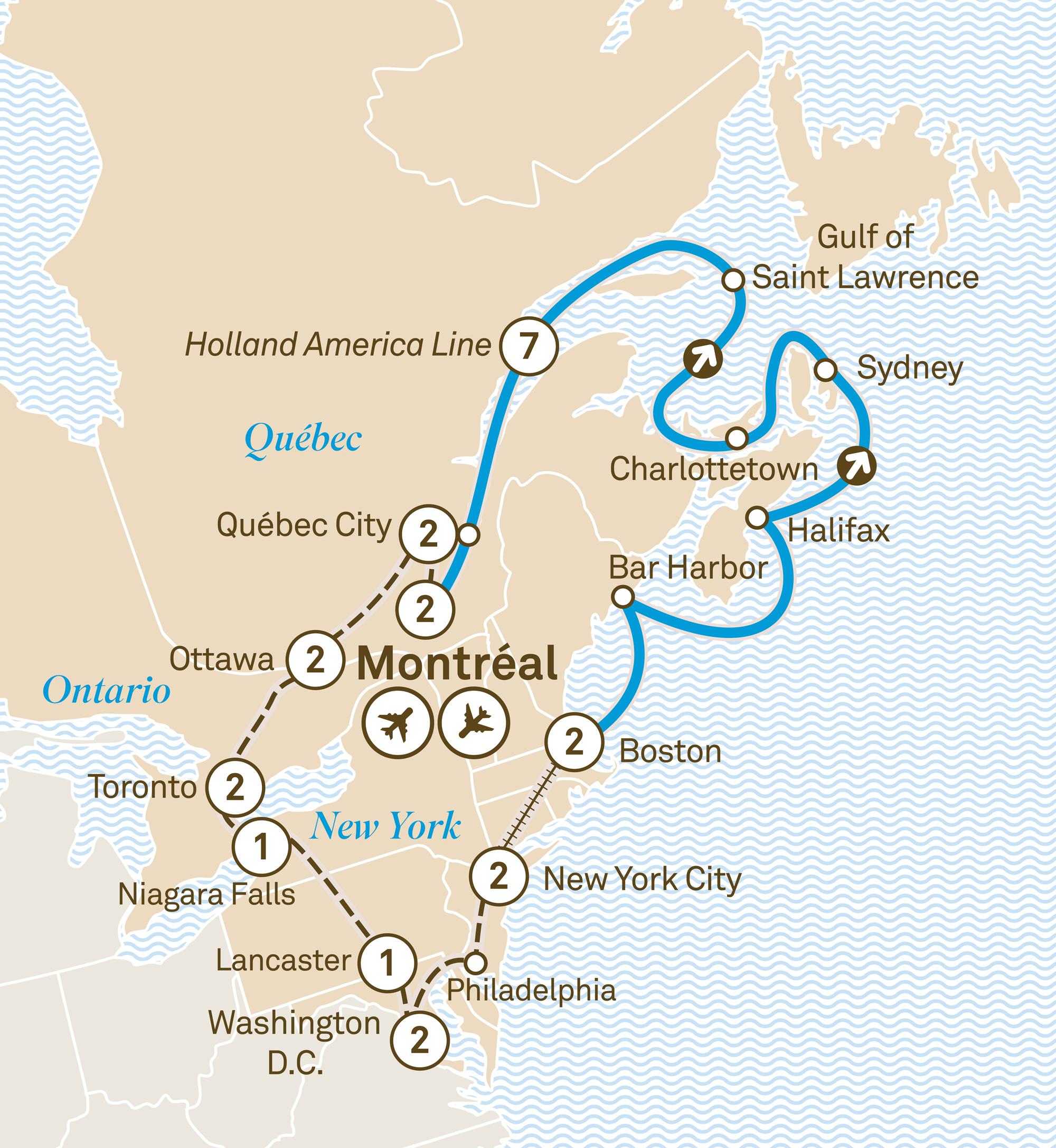 Eastern Canada, USA & Canada New England Cruise - Scenic Australia
