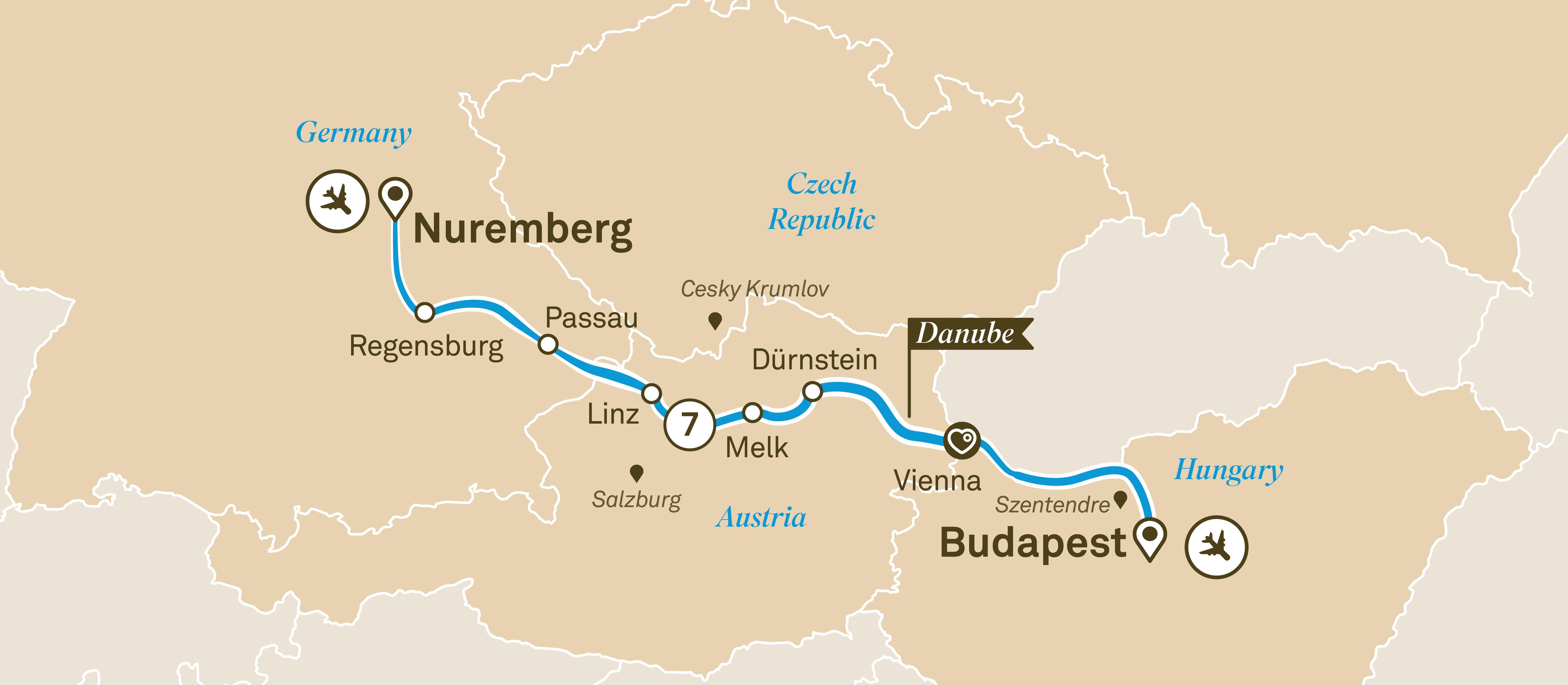 Budapest Christmas Markets Map.Danube Christmas Markets