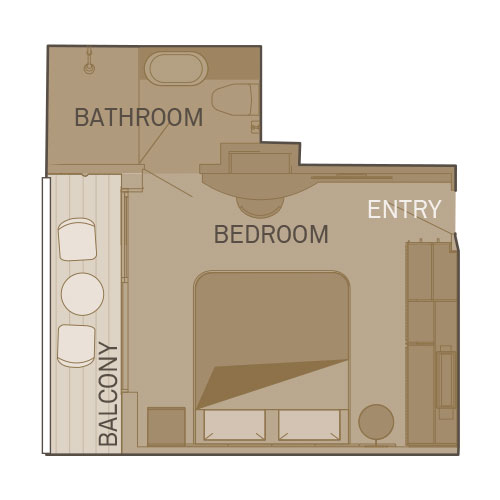 Single Balcony Suite  - BS