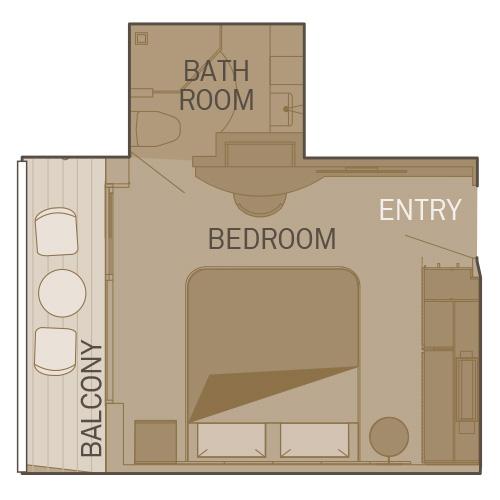 Single Balcony Suite - BS