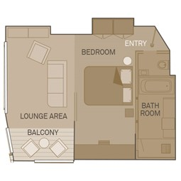 Royal One-Bedroom Suite - RP