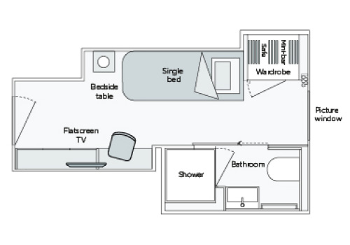 Emerald Single Stateroom - ES